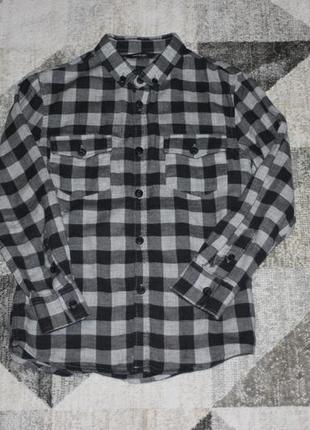 Стильная байковая рубашка george на 6-7 лет рост 116-122 см