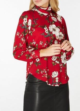 Яркая блуза с цветочным принтом dorothy perkins размер xxl