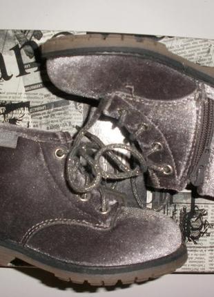 Нарядные велюровые ботиночки oshkosh 24 размера для девочки
