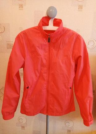 Женская коралловая спортивная ветровка куртка