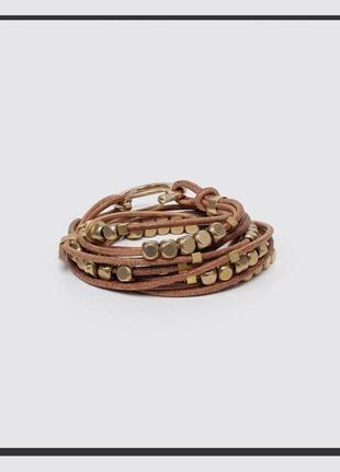 Essence cult женский браслет - ожерелье - намотка из итальянской кожи