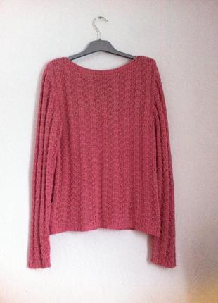 Вязаный свитер полушерсть m-l