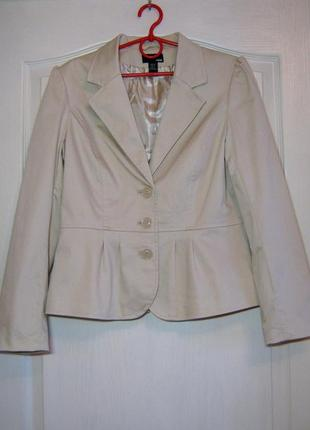 Бежевый жакет, женский пиджак h&m