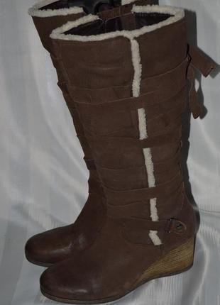 Сапоги кожа janet d. размер 41 42, чоботи шкіра