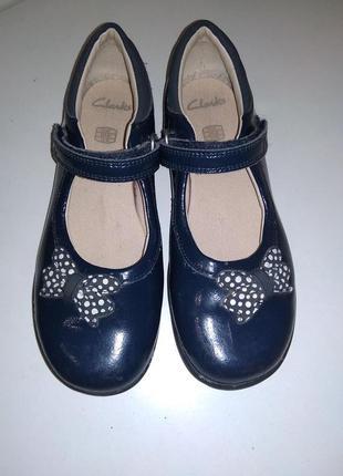 Кожаные туфли clarks 29 - 30 р