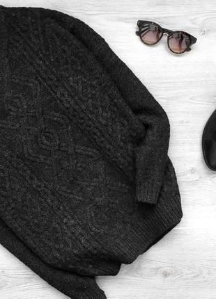 Крутой теплый фактуреый  свитер/джемпер 4xl  atmosphere