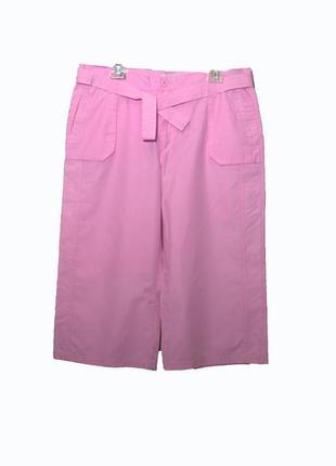 Стильные розовые удлиненные широкие шорты