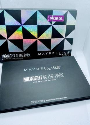 Лимитированая палетка  maybelline midnight in the park