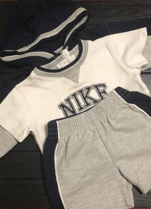 Костюм футболка шорты ветровка nike