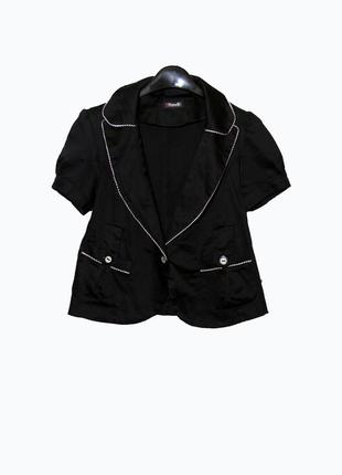 Y.yendi paris/стильный черный пиджак с коротким рукавом