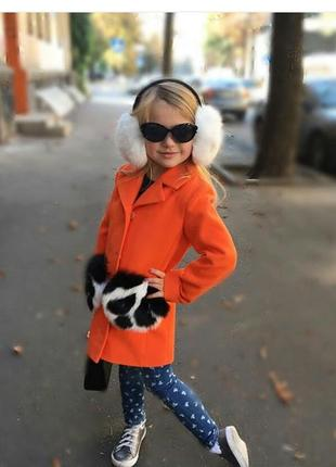 Яркое пальто для вашей модницы