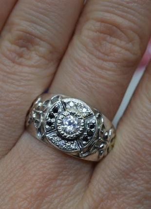 Серебряное #кольцо, #печатка, #перстень, #камни, #срібна печатка, #925, 20,5р-р
