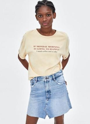 Новая джинсовая юбка трапеция zara оригинал
