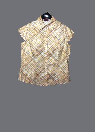 Летняя блуза/рубашка в косую клетку