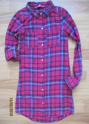 Яркая рубашка-платье-туника young dimension на 11-12 лет 2015г