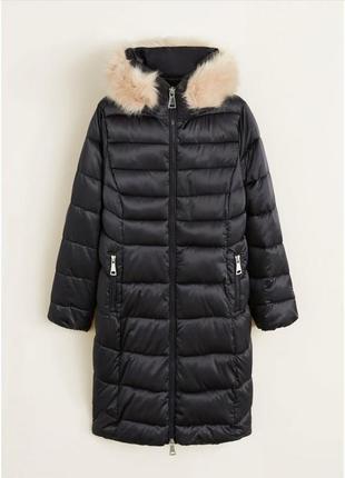 Непромокаемая куртка mango р.  s оригинал,длинная зимняя