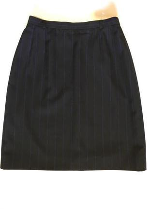 Роскошная шерстяная юбка в полоску akris !!!
