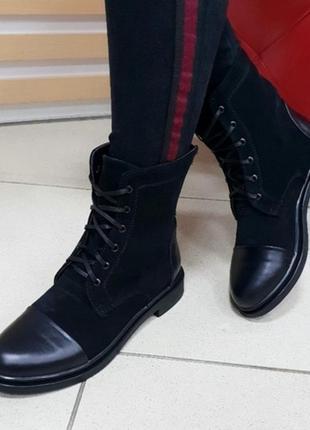 Весенние ботинки из натурального замша