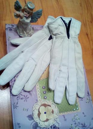 Кожаные перчатки м-л