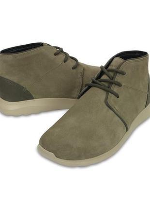 Ботинки crocs men´s kinsale suede chukka boot, 43 р. оригинал, америка, мокасины