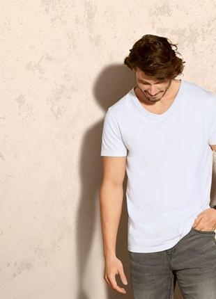 Комплект 3 шт футболка мужская белая хлопок р.м 48-50 livergy германия