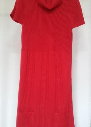 Платье-туника трикотажное красное с кармашками esmara 40 42