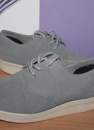 Класснючие кожаные замшевые туфли броги dr.martens разм 39 вьетнам