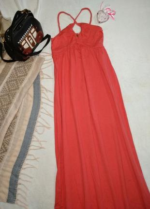 Макси платье длинное на бретельках