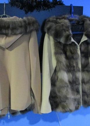 Соболь. 2 новых пальто-парка, шуба, шубка, полушубок с соболем