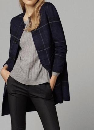 Шерстяное двойное пальто massimo dutti