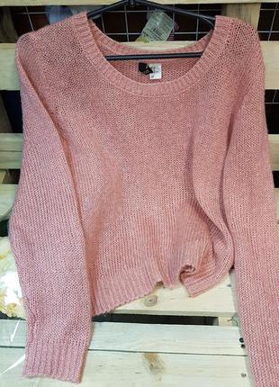 Мохеровый свитер розовый