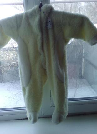 Зимний теплый комбинезон с котом и ушками.отвечу на ваши вопросы.