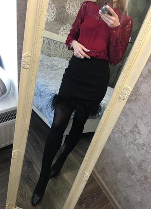 Блузка с гипюром