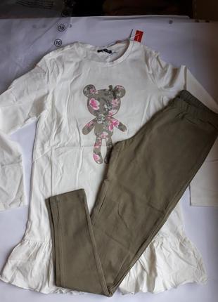 Брендовый комплект на девочку 10 лет original marines. италия.