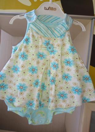 Боди-платья carter 's для малышки 6-9мес.
