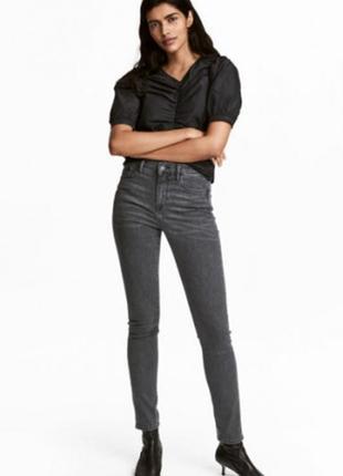Оригинальные джинсы shaping skinny regular от бренда h&m разм. w25l34