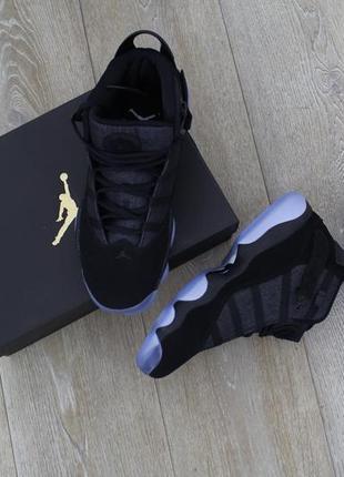 Баскетбольные кроссовки air jordan 6 rings черные