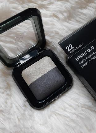 Тени kiko milano bright duo baked eyeshadow! оттенок 22