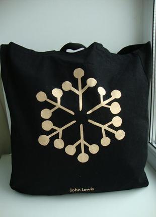 Фірмова текстильна сумка шоппер англійського бренду john lewis.оригінал!!!