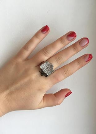 Набор масивное кольцо и серьги с кристаллами swarovski бабочки