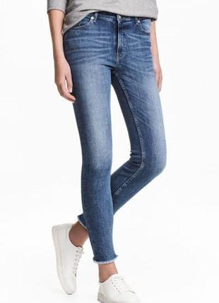 Оригинальные джинсы-slim regular ankle jeans от бренда h&m разм. 27