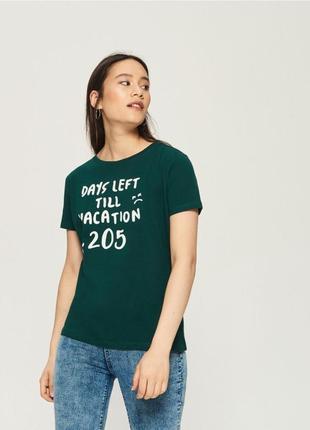 10-59 женская футболка sinsay с надписью days left till vacation 205