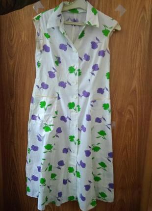 Легкое платье-халат