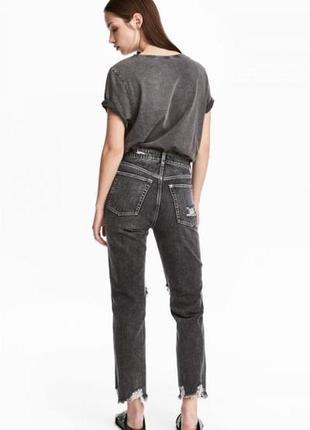 Оригинальные джинсы-slim high cropped jeans от бренда h&m разм. 40