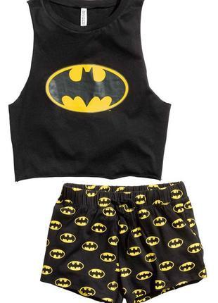 Пижама h&m divided batman майка и шорты!размер м