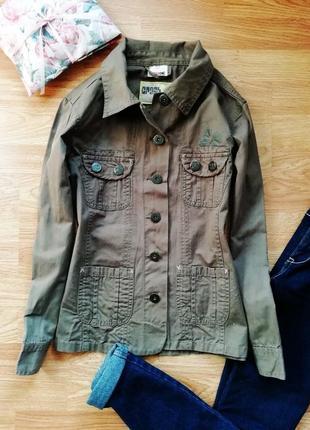 Подростковый коттоновый пиджак - жакет милитари - рост 152 см