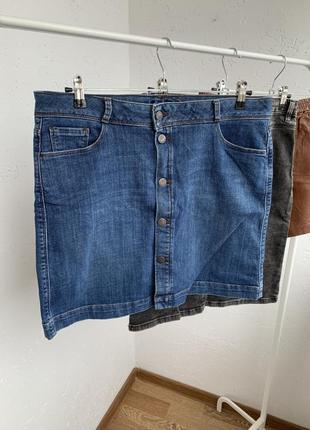 Юбка на пуговицах ,деми ,джинсовая