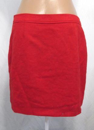 Фирменная  юбка марсала шерсть