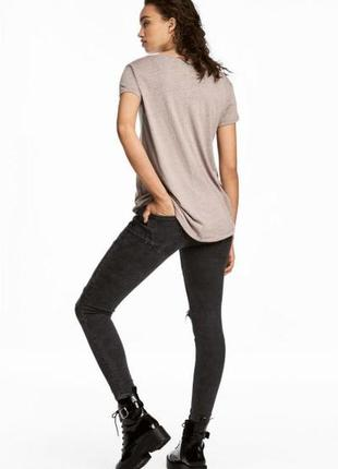 Оригинальные джинсы-bikerjeans skinny fit от бренда h&m разм. 40