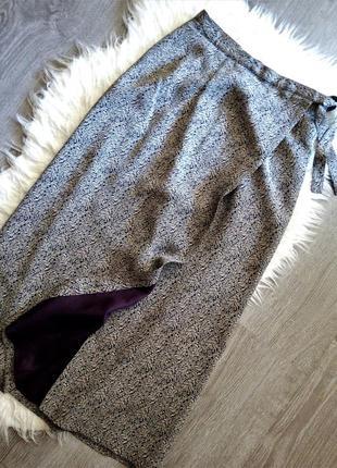 Шикарная,натуральная юбка-на запах  laura ashley